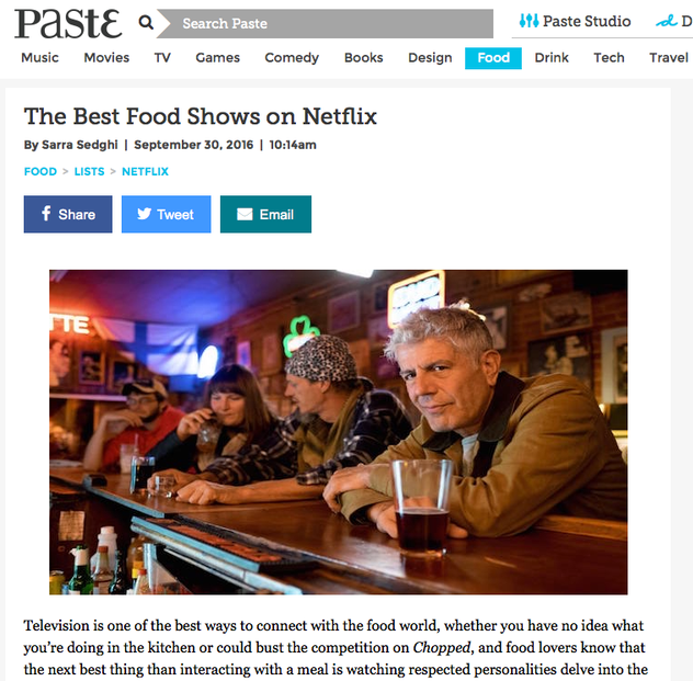 paste magazine netflix food shows chopped