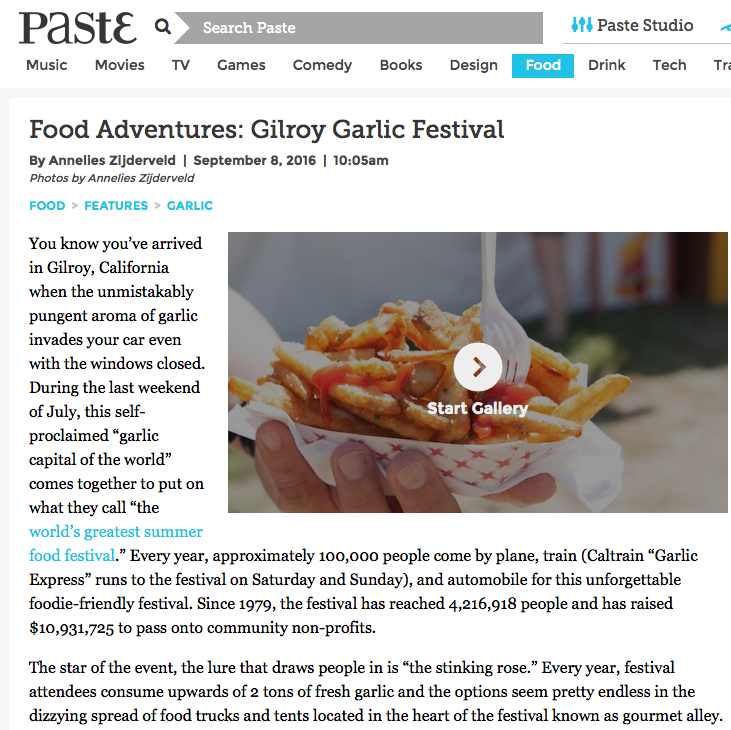 paste magazine - gilroy garlic festival - photo gallery - anneliesz