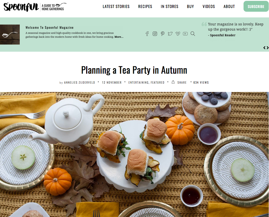 Autumn Tea Party - Spoonful Magazine - anneliesz - 111216