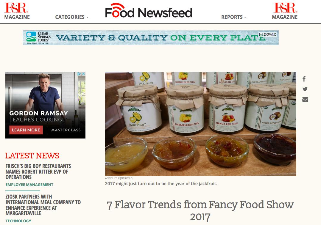 Flavor Trends from Fancy Food Show 2017 - FSR Magazine - anneliesz