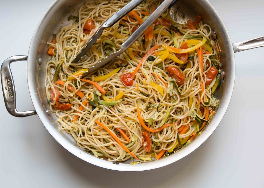 Spiralized Primavera Pasta Recipe - anneliesz / Brit+Co